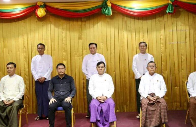 မြန်မာနိုင်ငံ ဘောလုံးအဖွဲ့ချုပ် ဒိုင်ကော်မတီ အစည်းအဝေးသို့ ဒု- ဥက္ကဌ အဖြစ် တာဝန် ယူနေသော Chinland FC အသင်း ဥက္ကဌ NC Thawng Tha Thang တက်ရောက်