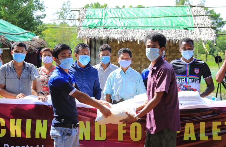 Chinland For Paletwa အစီအစဉ်တွင် စစ်ဘေးရှောင်ပြည်သူများအား တတိယအကြိမ် သွားရောက်ကူညီလှူဒါန်းခဲ့